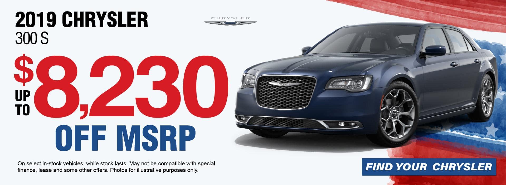 19 Chrysler 300 Savings