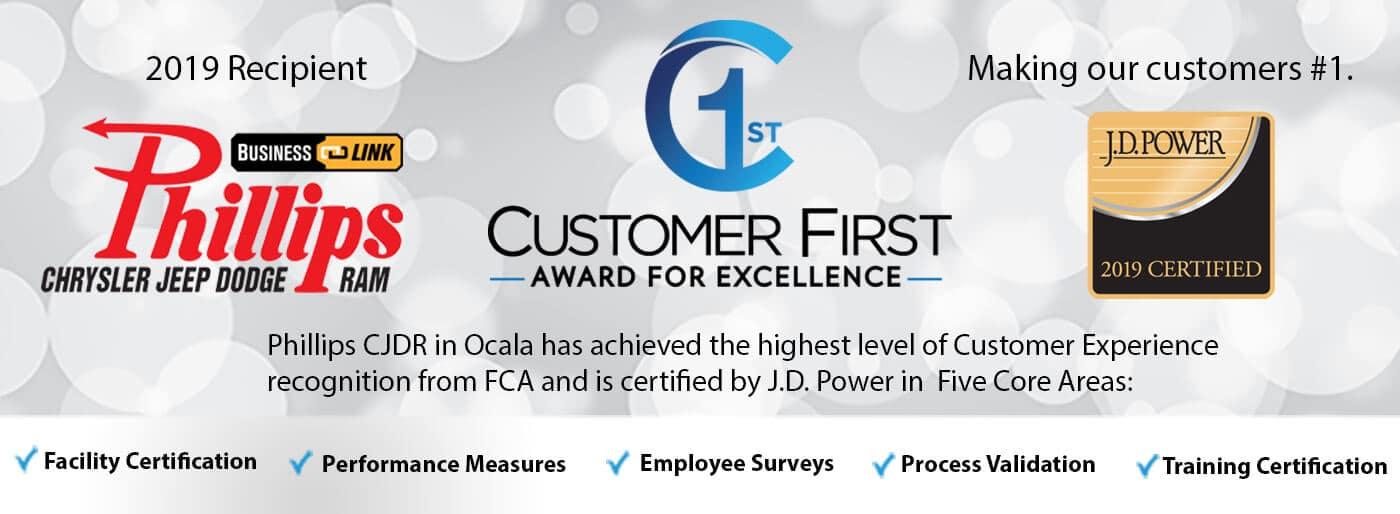 customer first award web tile