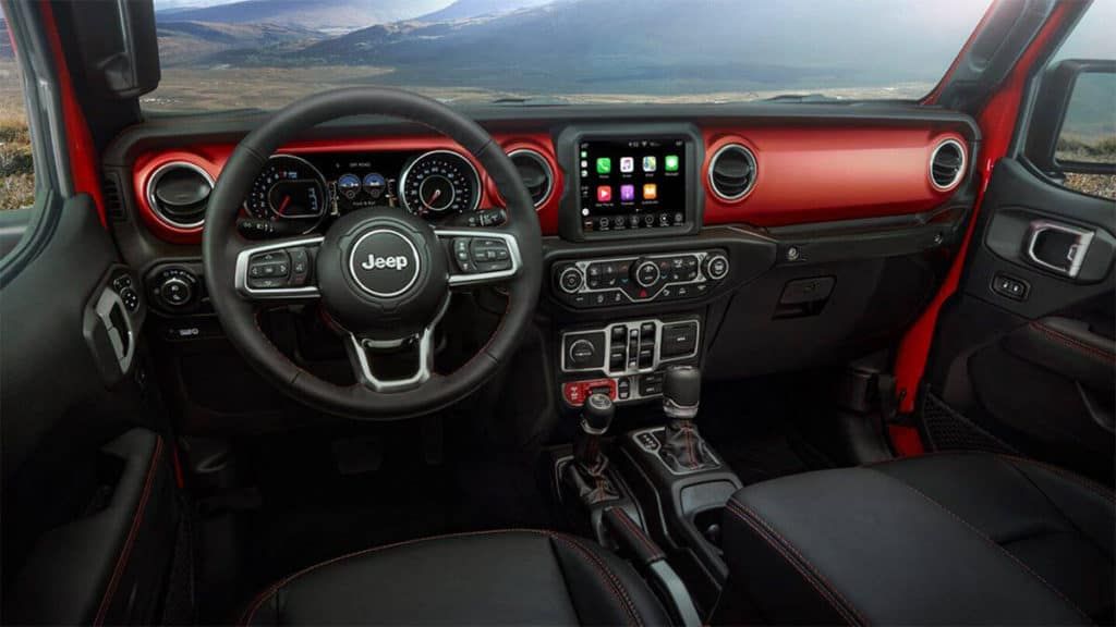 interior of 2020 Jeep Gladiator