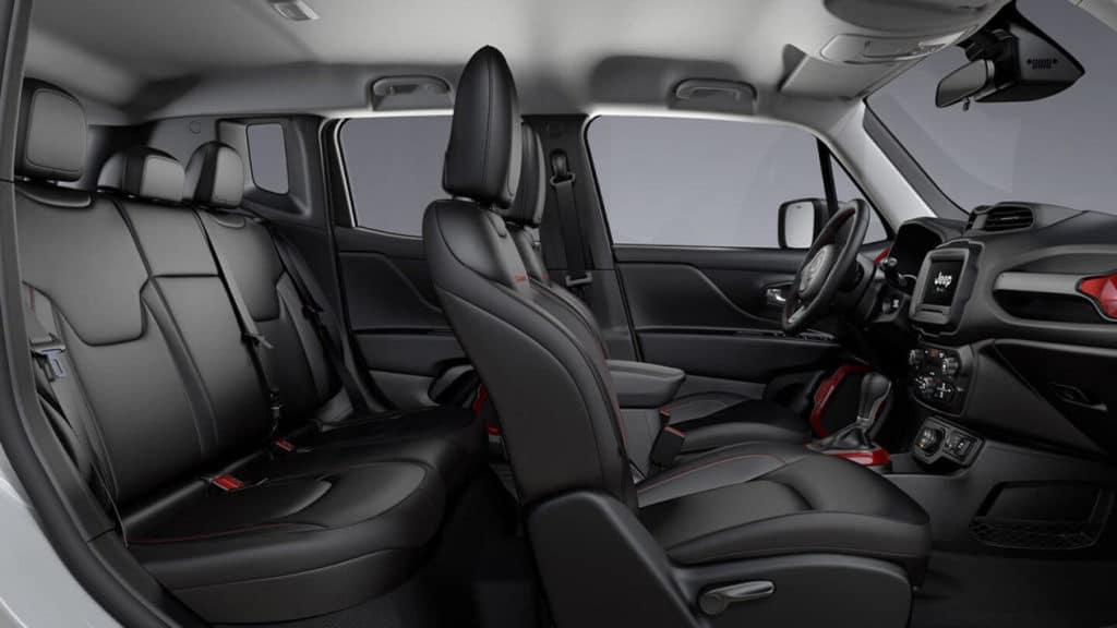Interior of 2020 Jeep Renegade