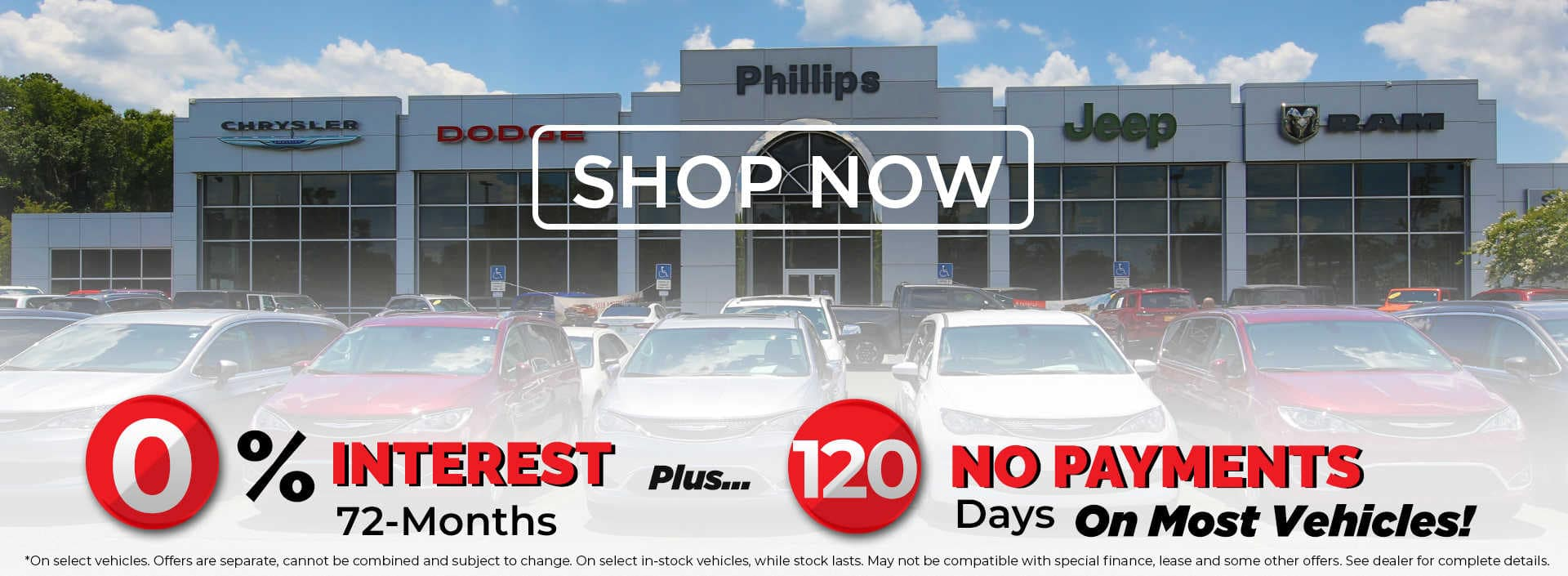 0 percent 72 months 120 days no payments