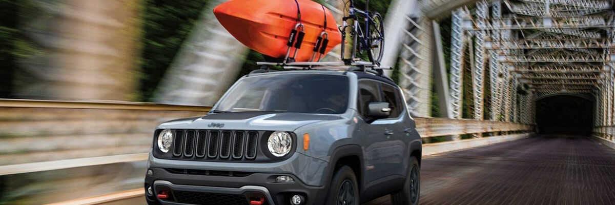 2020 Jeep Renegade with kayak