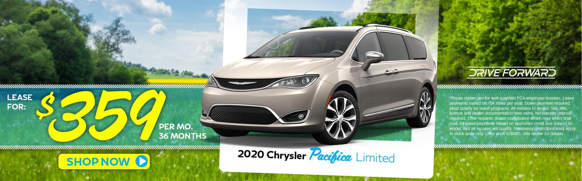 2020 Chrysler Pacifica Crew Cab Lease Specials in Pinckney, MI