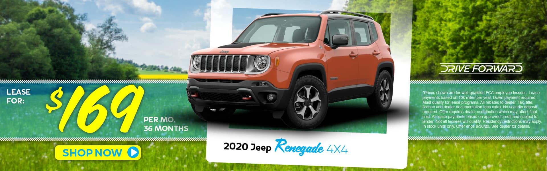 2020 Jeep Renegade Crew Cab Lease Specials in Pinckney, MI