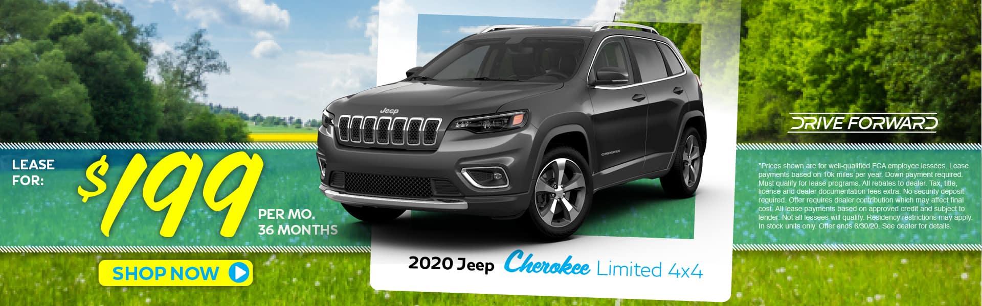 2020 Jeep Cherokee Lease Specials in Pinckney, MI