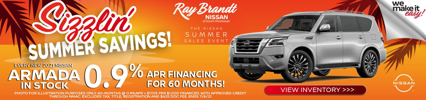 Nissan Armada new vehicle special for June, Summer Savings Event
