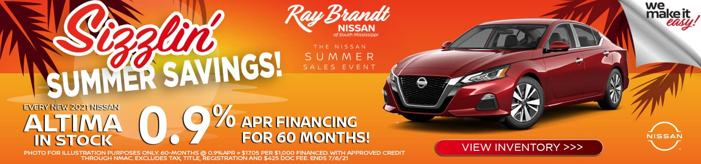 Buy an Altima, Get the best deal, Ray Brandt is your local dealer