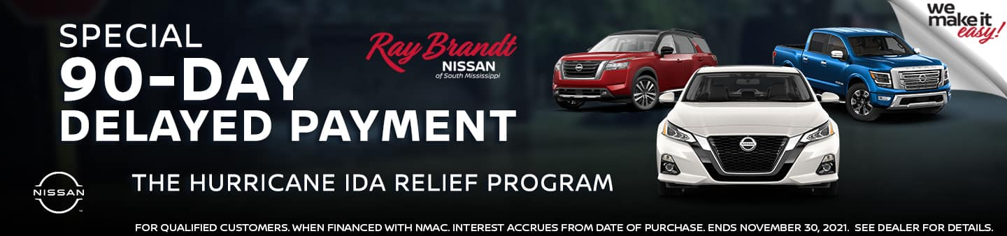 Nissan 90-Day Delayed Payment Hurricane Ida Relief