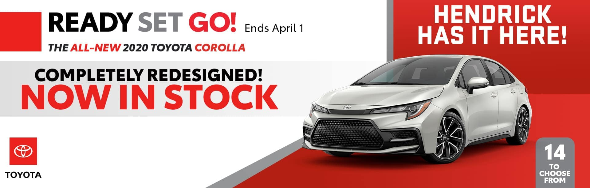 2020 Toyota Corolla promo banner
