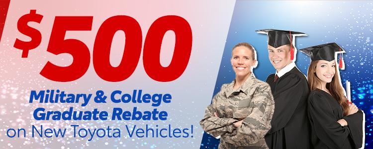 College Graduate/Military Rebate Cash Offer