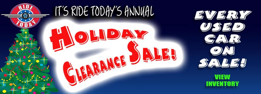 Ride Today Holiday Clearance Sale