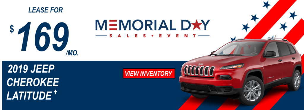 May 2019 Memorial Day Offers Jeep Cherokee Lease