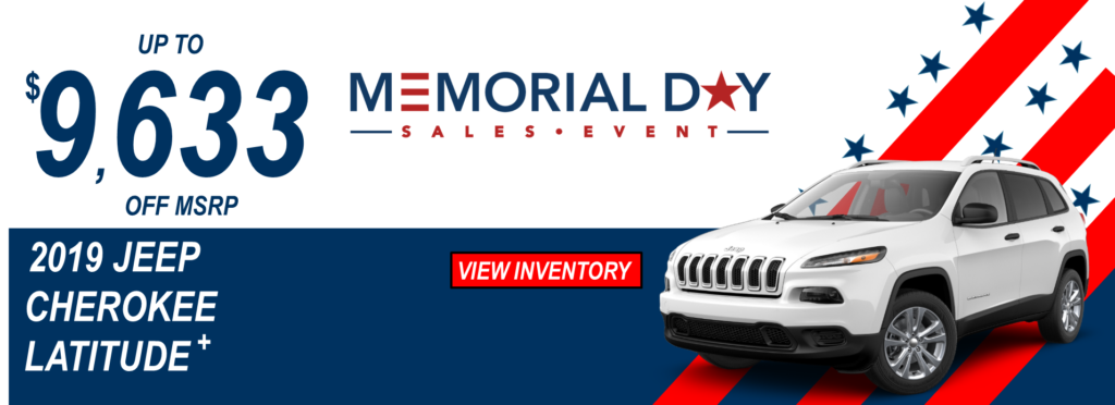 May 2019 Memorial Day Offers Jeep Cherokee