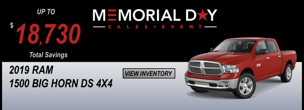 May 2019 Memorial Day Offers Ram DS Classic