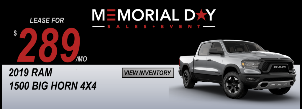 May 2019 Memorial Day Offers Ram DT Lease