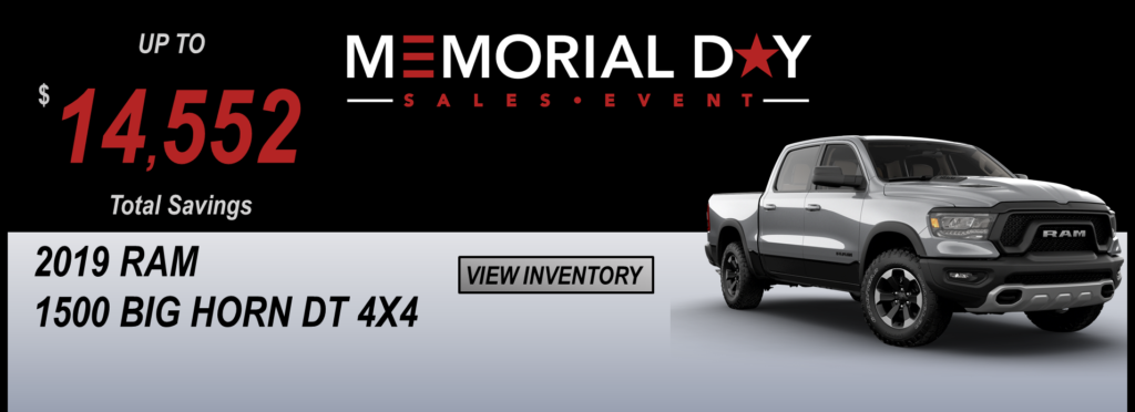 May 2019 Memorial Day Offers Ram DT