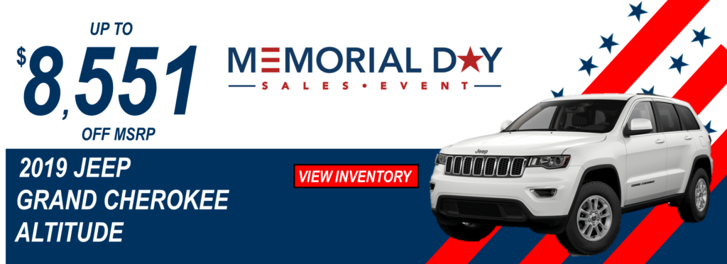 May 2019 Memorial Day Offers Jeep Grand Cherokee