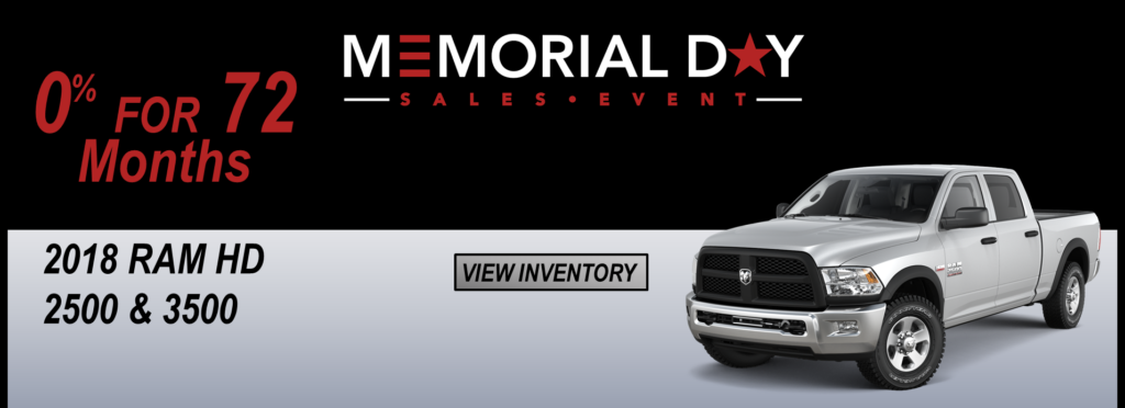 May 2019 Memorial Day Offer Ram 2500/3500 0% for 72