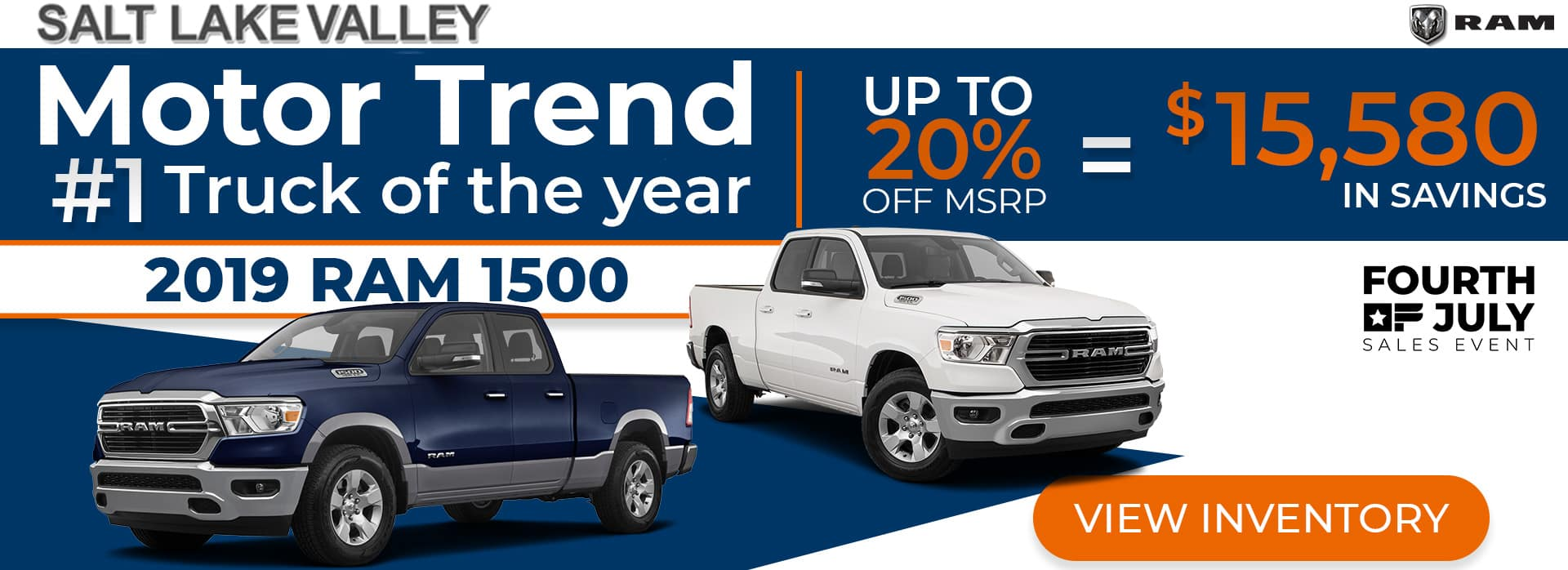 4th of July Sales Event on RAM 1500 DT