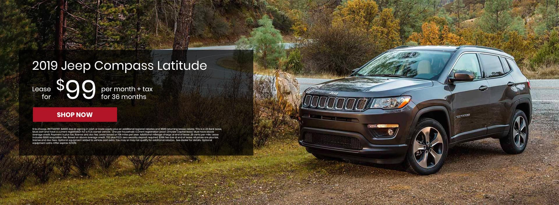 Check out our 2019 Jeep Compass lease offers