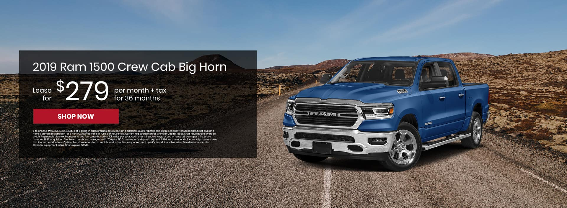 Check out our 2019 Ram 1500 lease offers