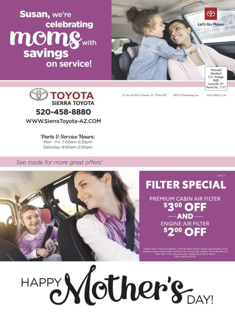 may service coupons