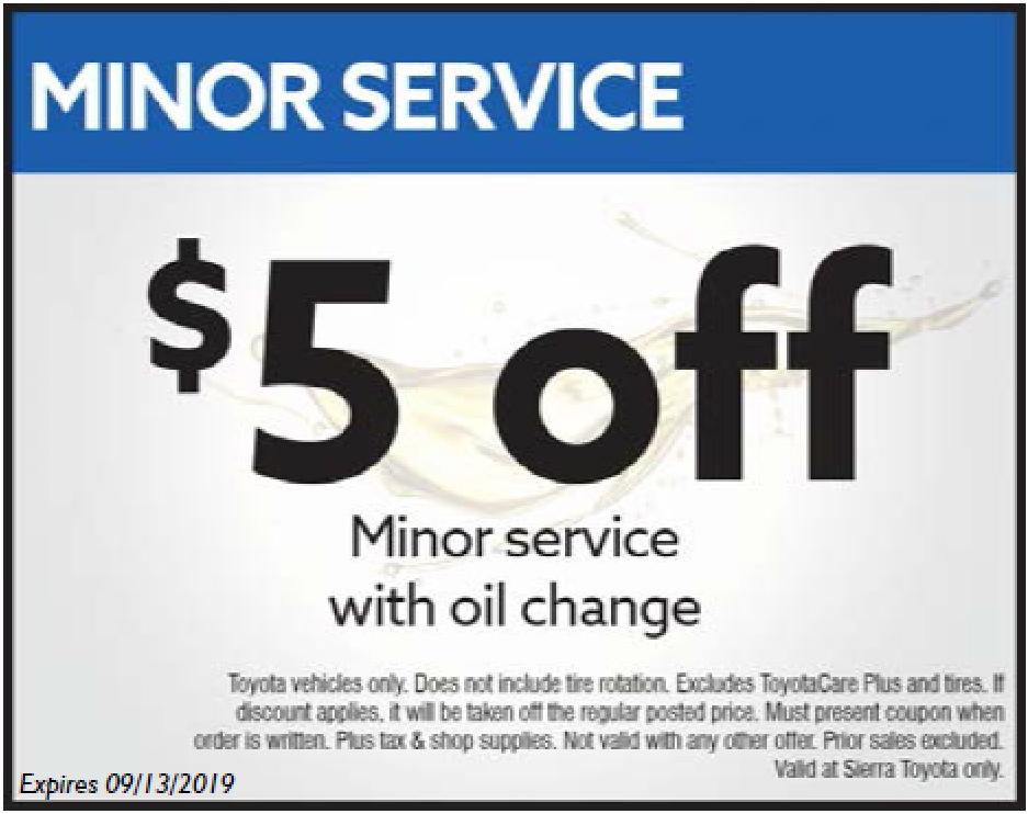 minor service