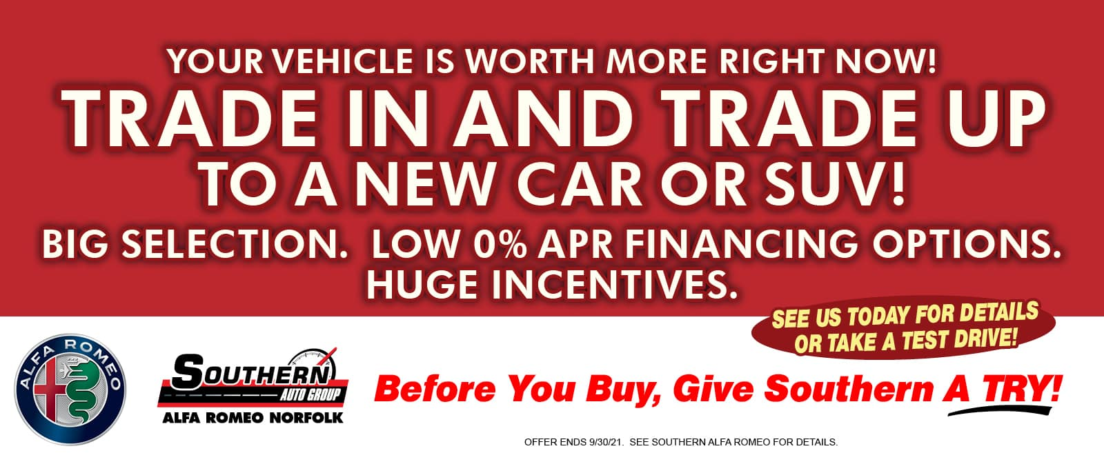 Trade Worth More – Southern Alfa Romeo