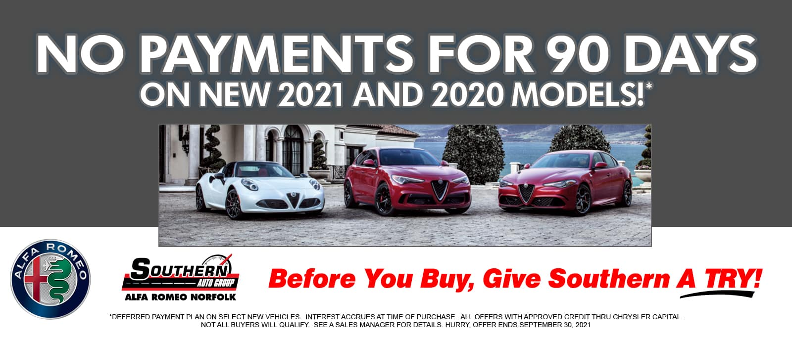 No Payments for 90 Days – Southern Alfa Romeo 2
