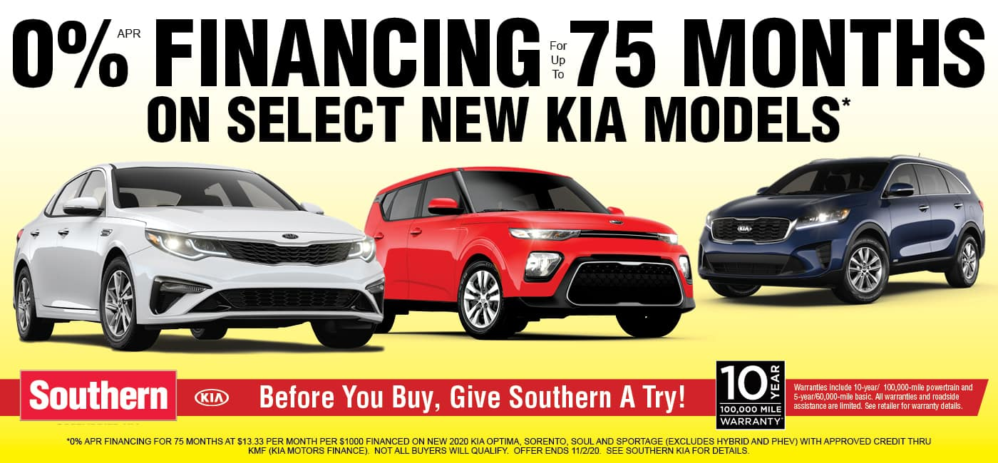 Southern Kia 0% Financing for 75 Months