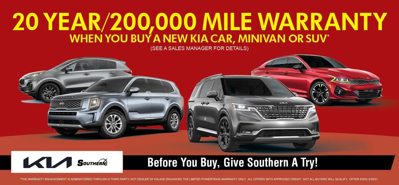 20 Year Warranty – Southern Kia