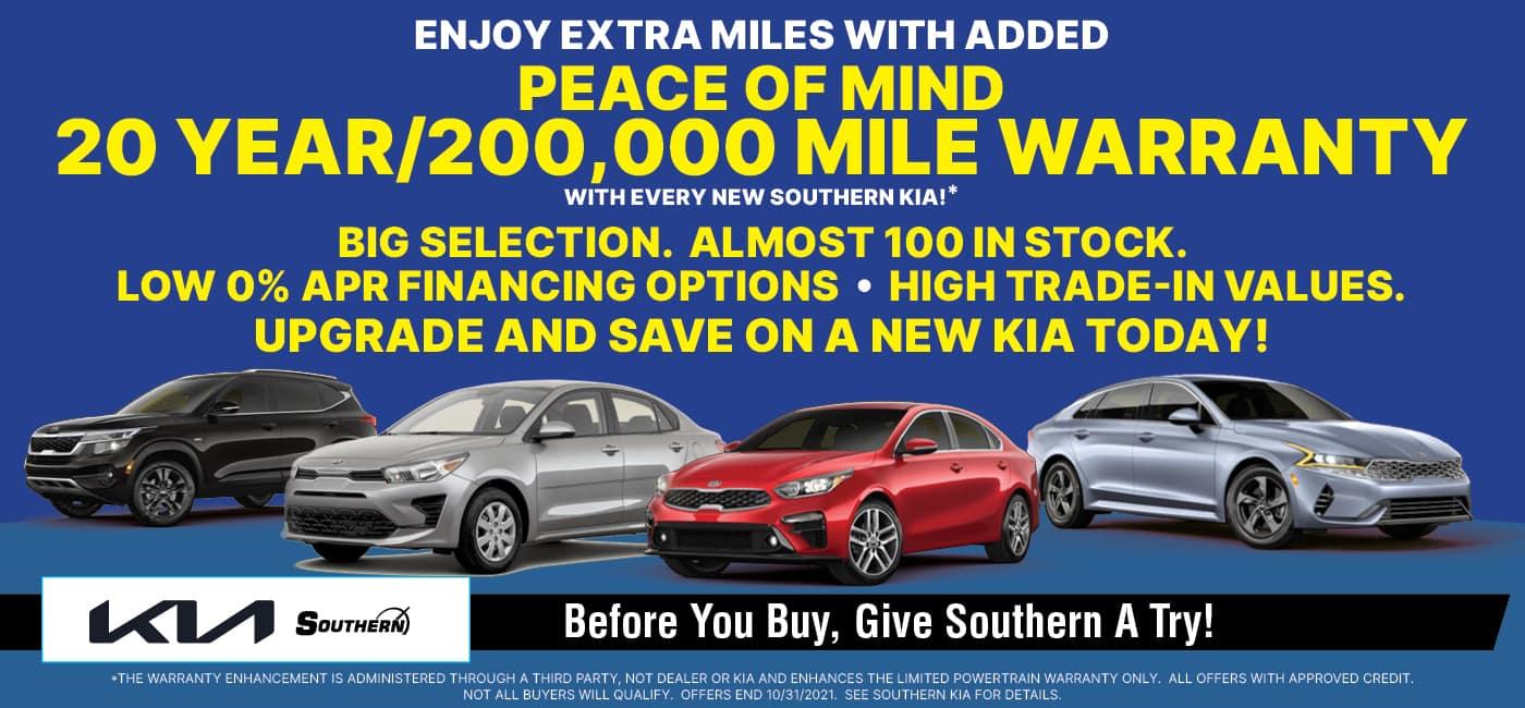 Southern Kia 20 Year Warranty