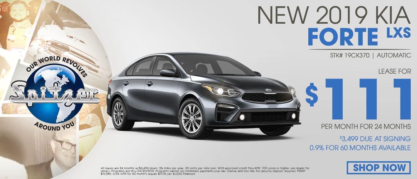 New 2019 Kia Forte Special