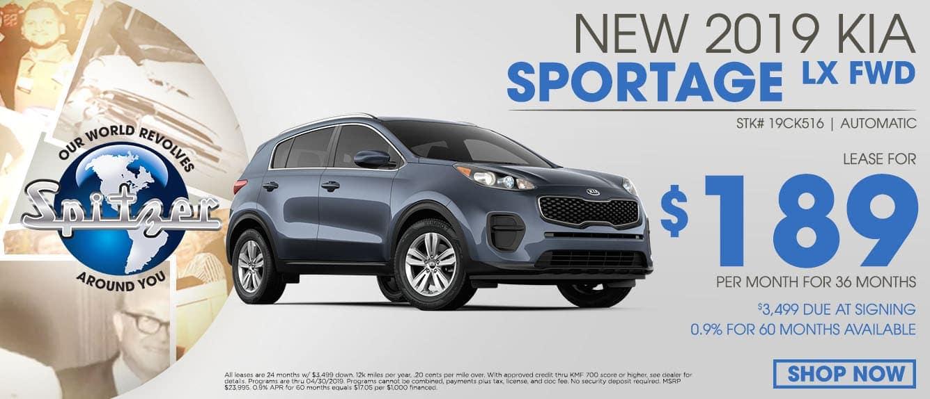 New 2019 Kia Sportage Special