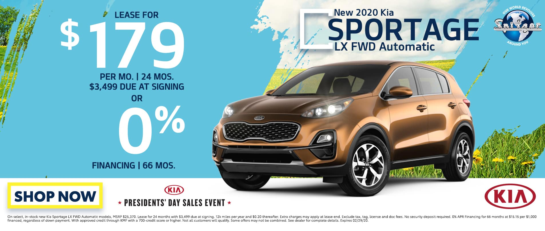 Sportage   Lease for $179