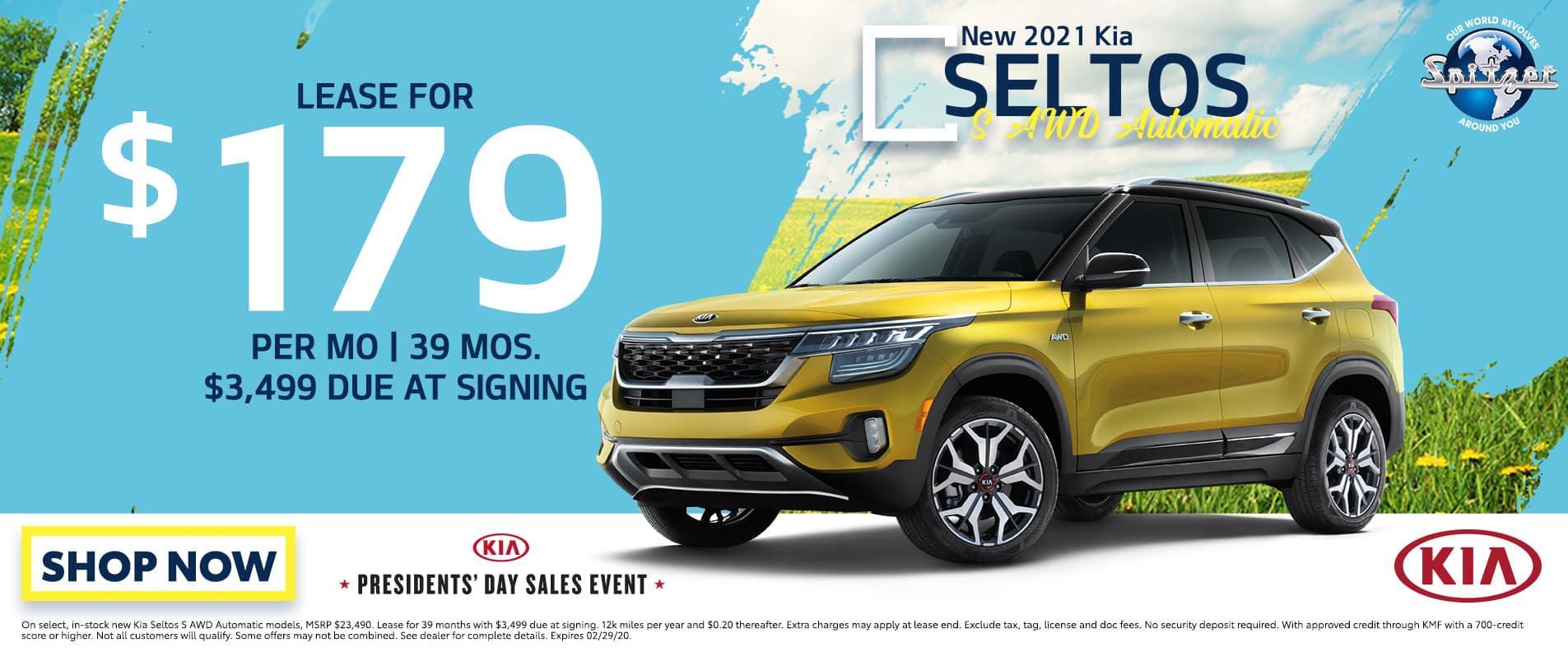 Seltos | lease for $179 per mo