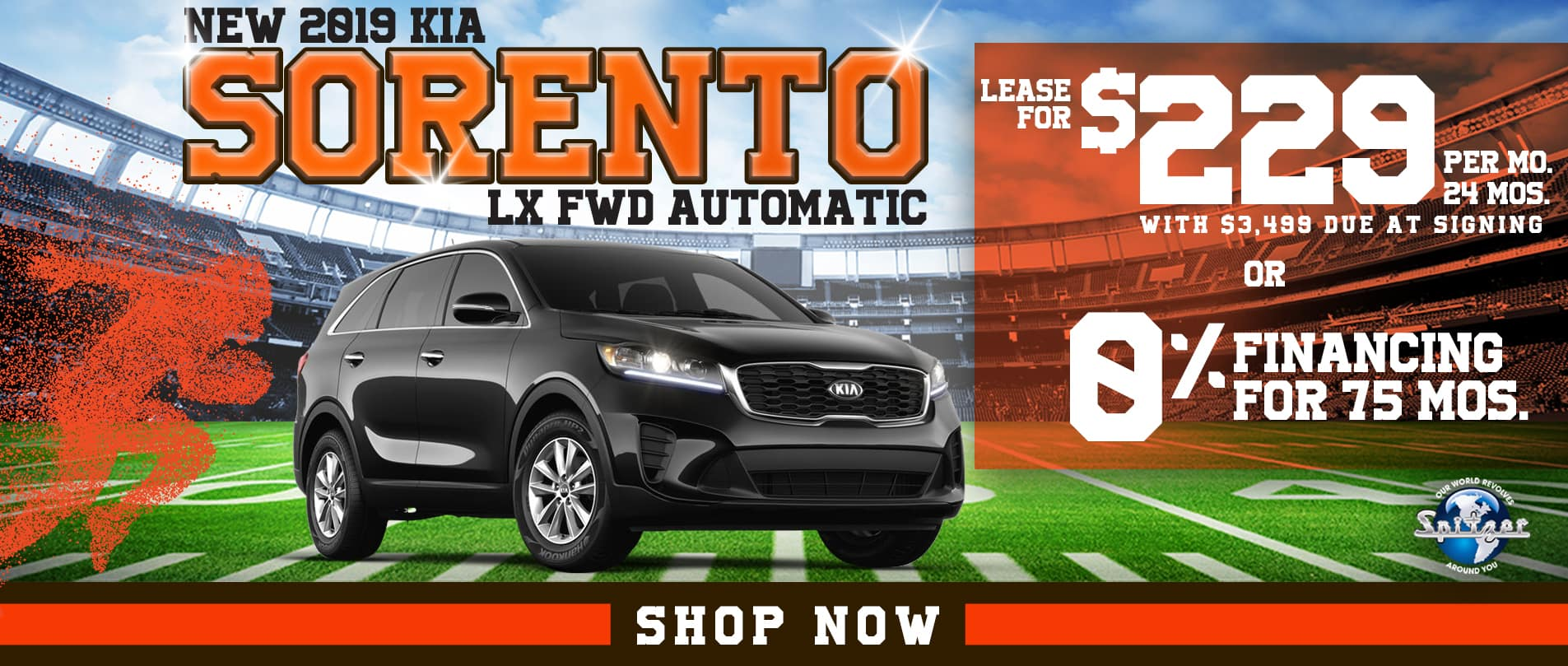 Sorento | Lease for $229 per mo/ 0% financing for 75 mos