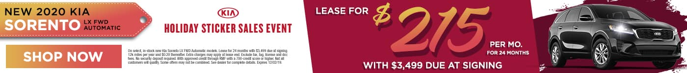 Sorento | Lease for $215 per mo