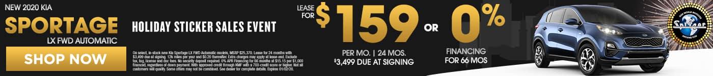 Sportage   Lease for $159 per mo