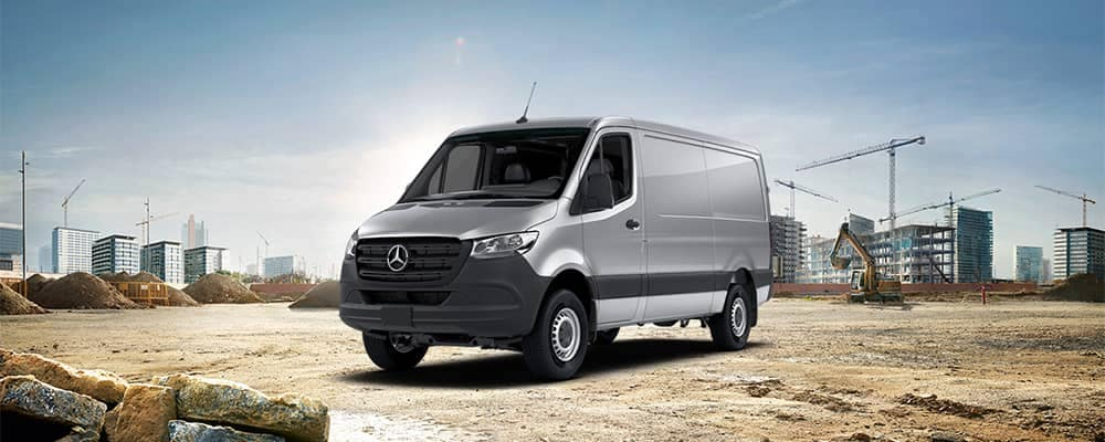 Mercedes-Benz Sprinter Parked at Construction Site