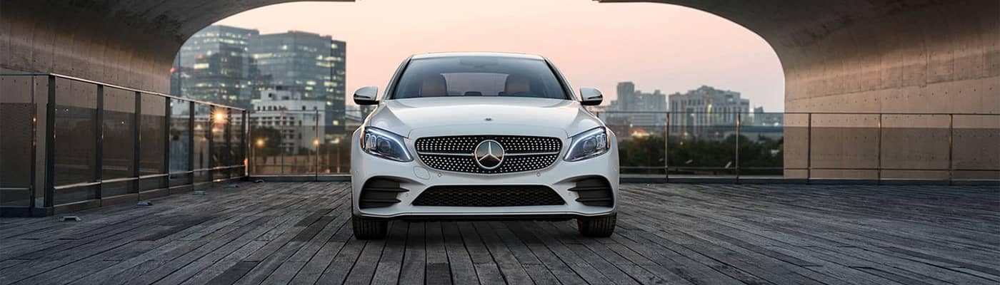 Mercedes-Benz C-Class Parked Front End View
