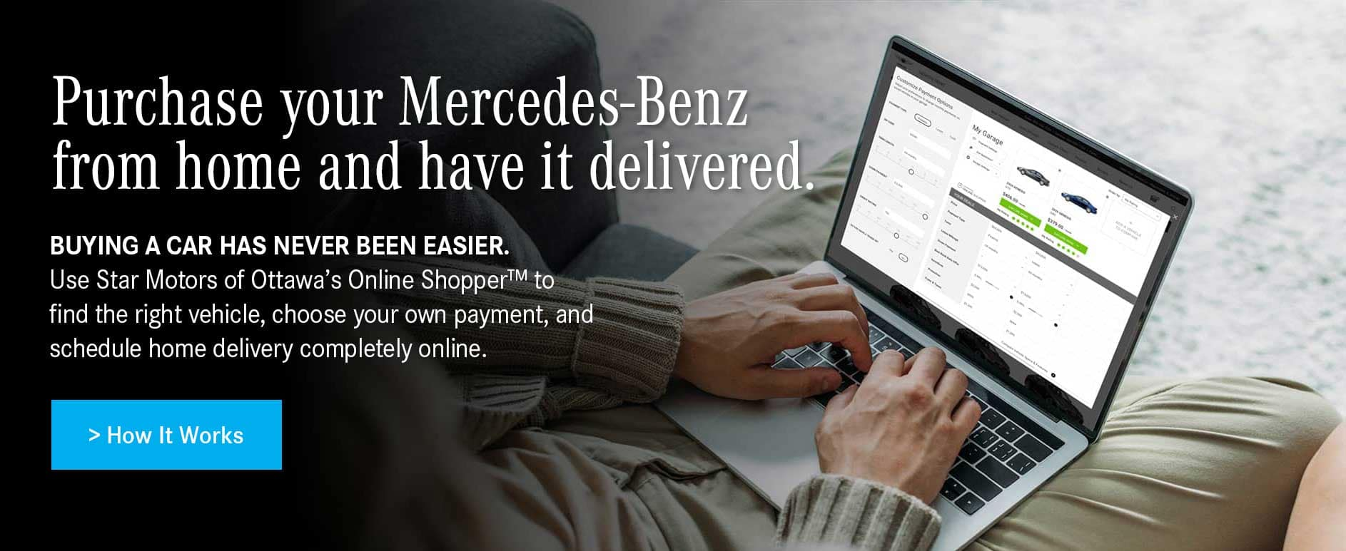 Purchase your Mercedes-Benz online.