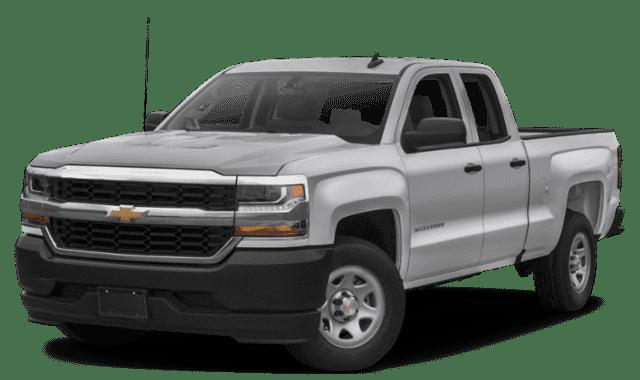 Silver 2019 Chevy Silverado Facing Forward