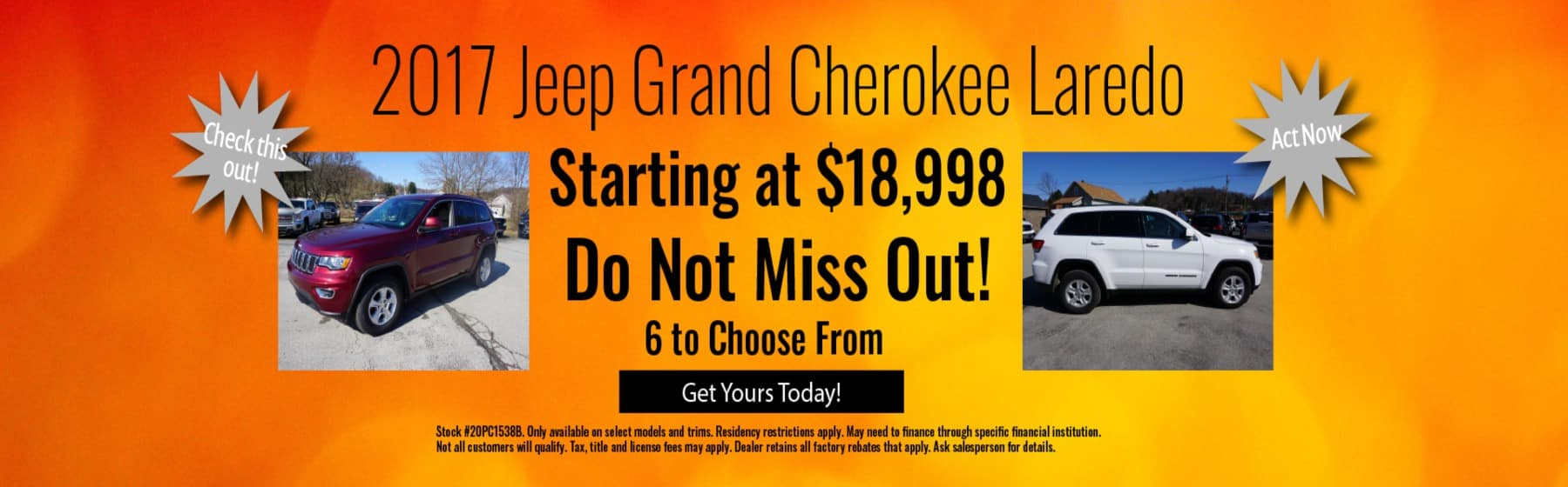 Used Laredo Blowout Sale July