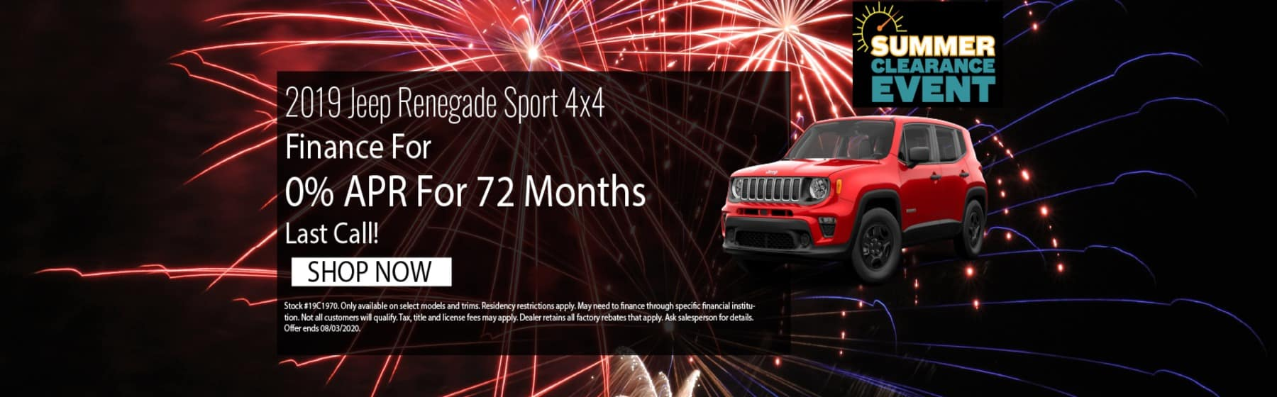 2019 Jeep Renegade July Offer