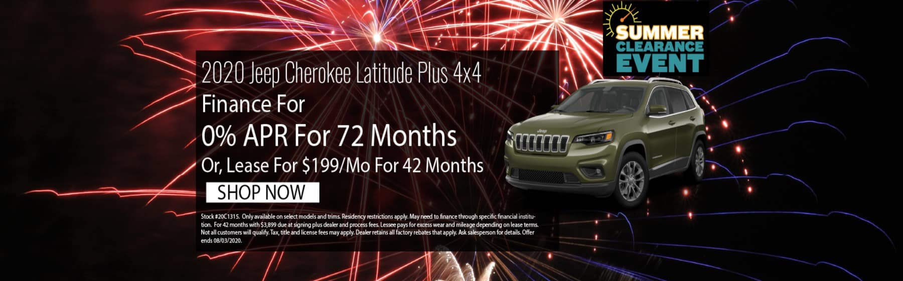 2020 Jeep Cherokee July 2020 Offer