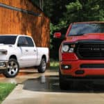 Red and white Ram 1500