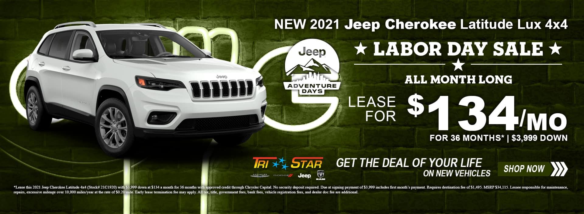Jeep Cherokee Latitude Labor Day