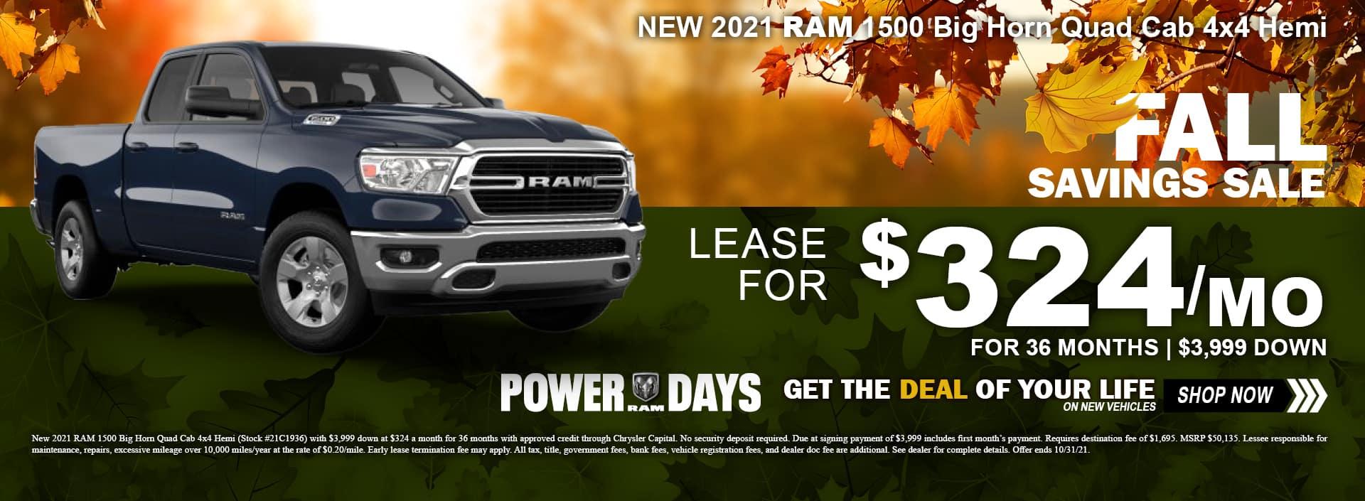 Ram 1500 Fall Savings