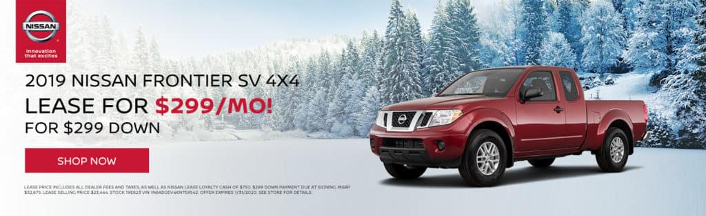 New 2019 Nissan Frontier Lease Offer!